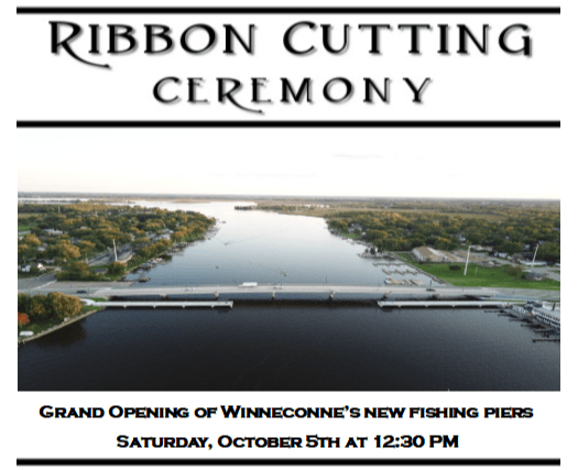 ribbon cutting for piers