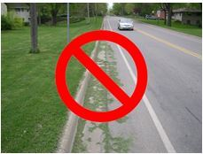 grass in streets not allowed